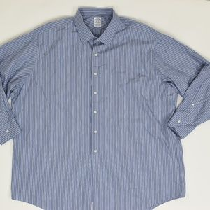 Brooks Brothers Big & Tall 20-36 Blue   Button Dow